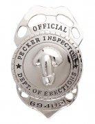 Polizeiabzeichen Penis-Inspektor silber 14x8cm
