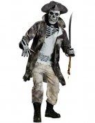 Geisterpirat-Kostüm für Herren Halloween-Kostüm grau