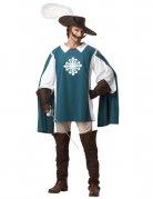 Mittelalter Musketeer Kostüm blau-weiss-braun