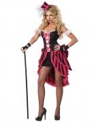 Pariser Showgirl Damenkostüm schwarz-weiss-pink
