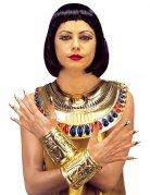 Cleopatra ägypterin Schmuck-Set gold-rot-blau