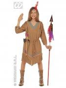 Indianerin Wildwest Mädchen Kinderkostüm hellbraun