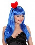 Herz Haarreif Kostüm-Accessoire rot-schwarz