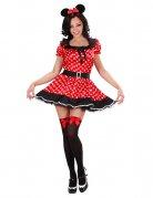 Maus Damen-Kostüm Minnie rot-weiss-schwarz