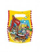 Party-Tüten Set Little Workers Kindergeburtstag-Deko 6 Stück bunt 16x23cm