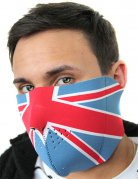 Halbmaske Großbritannien Bikermaske blau-rot-weiss