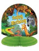 Geburtstagsparty Tischdeko Kaskade Safari bunt 24cm