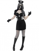 Gothic-Krankenschwester Damenkostüm Halloween schwarz-weiss