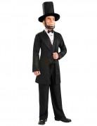 Präsident Kostüm USA mit Maske schwarz-weiss