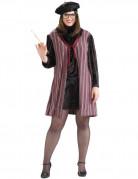 50er Jahre Damenkostüm XL schwarz-rot