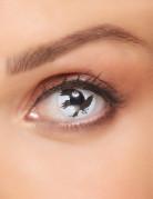 Kontaktlinsen Krähe weiss-schwarz