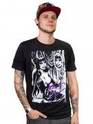 Kreepsville-Shirt Elvira-T-Shirt schwarz-weiss-lila