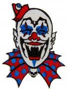 Kreepsville Gothic Aufnäher Horrorclown blau-weiss-rot