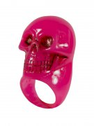 Kreepsville Gothic Ring Totenkopf pink