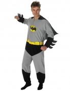 Batman™-Kostüm für Herren Overall Faschingskostüm grau-schwarz