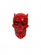 Kreepsville Gothic Brosche Teufel Skull rot