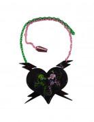 Kreepsville Gothic-Halskette Seepferdchen grün-pink