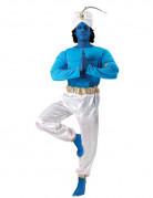 Orientalischer Flaschengeist Dschinn Kostüm blau-weiss