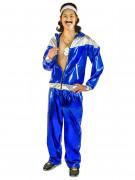 80er Jahre Trainingsanzug Herrenkostüm blau