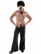 70er Jahre Disco Herrenkostüm schwarz-bunt