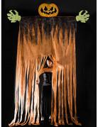 Riesige Türdeko Halloweenparty Eingangstor Kürbis orange-schwarz 350cm