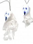 Girlande Gespenster mit Licht Halloween Party-Deko weiss 200x6x10cm