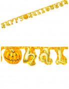 Kürbis Girlande Happy Halloween Party-Deko bunt 250x17cm