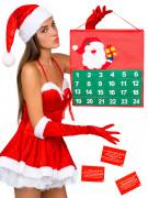 Erotischer Weihnachtskalender für Paare Adventskalender bunt 56x98cm