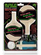 Glow in the Dark Tischtennis-Set bunt