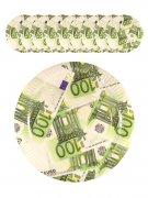 100-Euro-Schein Pappteller 10 Stück weiss-grün 23cm