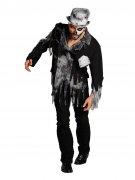 Schauriger Zombie Bräutigam Halloween Kostüm schwarz-grau