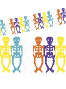 Day of the Dead Skelette Girlande Halloween Party-Deko bunt 360x29cm