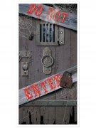 Do Not Enter Tür-Poster Halloween Party-Deko grau-schwarz 76x152cm