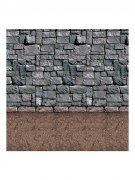 Steinmauer Halloween Wand-Dekofolie braun-grau 1,2x9,1m