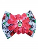 Tag der Toten-Haarspange Sugar Skull Halloween-Accessoire bunt