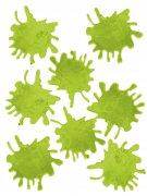 Zombie Blutflecken Halloween Fensterdeko-Set 8-teilig grün 45x27cm