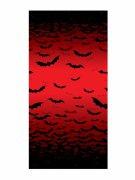 Schaurige Fledermäuse Halloween Wanddeko rot-schwarz 1,2x1m