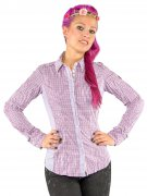 Spieth und Wensky Damen Trachten Bluse Karo-Muster violett-flieder