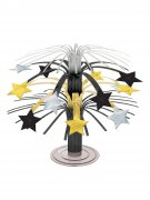 Stern Tischschmuck Party-Deko gold-silber-schwarz 19cm