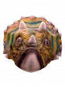 Dinosaurier Maske mit Hörnern bunt