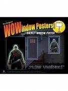 Jason Voorhees Freitag der 13te Halloween Fenster-Sticker Lizenzware schwarz-grau 91x152cm