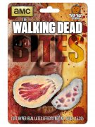 The Walking Dead Bisswunden Latex-Applikationen Lizenzartikel 2 Stück beige-rot
