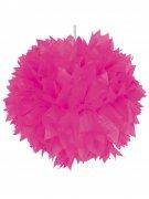 Waben-Ball Pompom Party-Deko magenta 30cm
