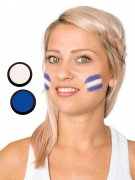 Honduras Schmink-Set Fussball Make-up 2-teilig blau-weiss 40ml