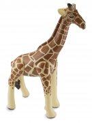 Aufblasbare Giraffe Party-Deko braun-beige 74x65x25cm