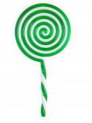 Lutscher Lolli Kostüm-Accessoire weiss-grün 22,5cm