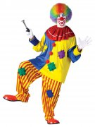 Lustiger Clown Spassmacher Kostüm Zirkus bunt