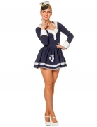 Süsse Matrosin Damenkostüm Sailor Girl blau-weiss