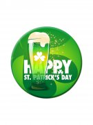 Party-Button Happy St. Patrick's Day grün-weiss 38mm