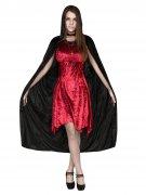 Düstere Hexe Halloween-Damenkostüm Vampirin rot-schwarz